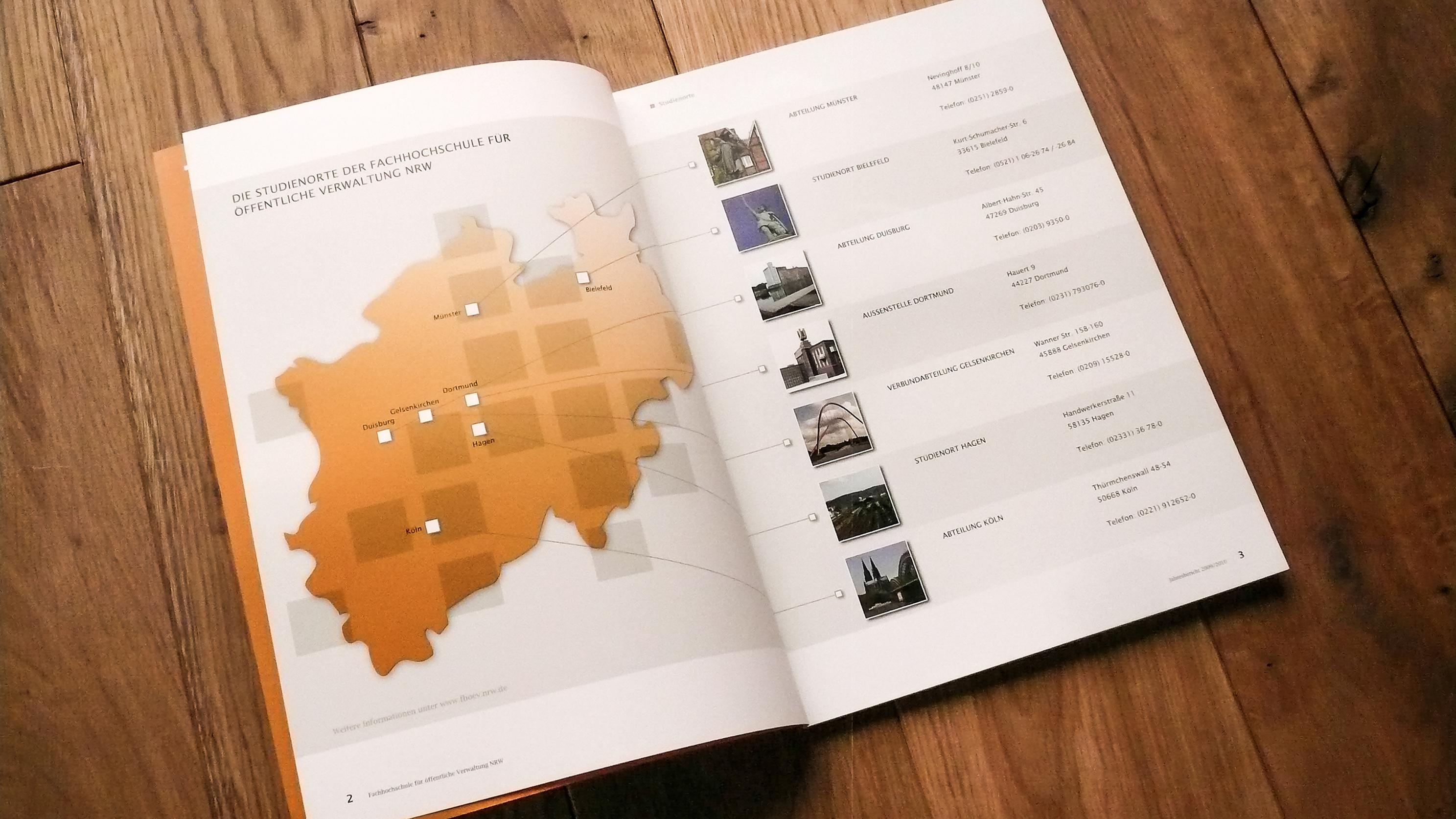 Geschäftsbericht Fachhochschule öffentliche Verwaltung NRW